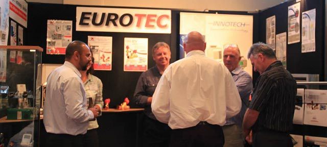 The Eurotec stand at the conference