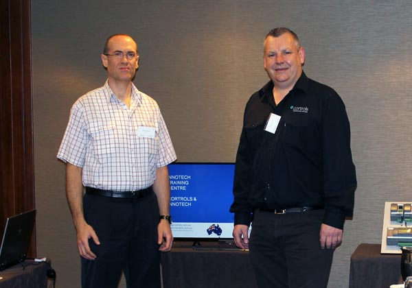 Walter Colaiaco, Innotech Systems Trainer and Craig Waldron, Cortrols MD