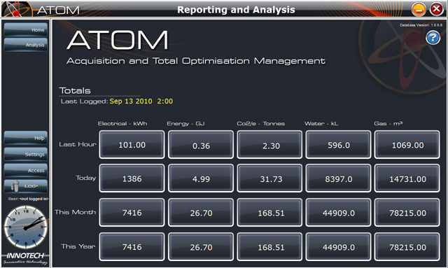 ATOM Data Acquisition and Management Tool. Home Page
