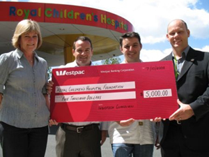 Innotech donates $5000 to Royal Children's Hospital Foundation